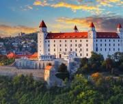 Bratislava castle at sunset