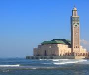 Casablanca - Affaccio sul mare della Moschea di Hassan II