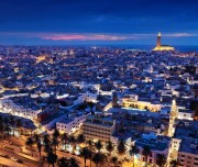MAROCCO CASABLANCA, vista notturna della città